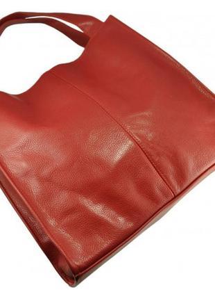 Кожаная женская сумка. есть цвета черная, бордовая, зеленая, б...