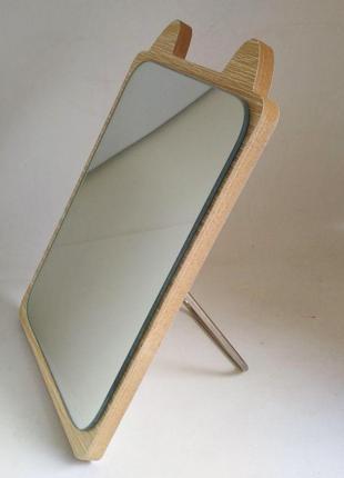 Зеркало для макияжа Cosmetic Mirror R-1029, деревянное в ассор...