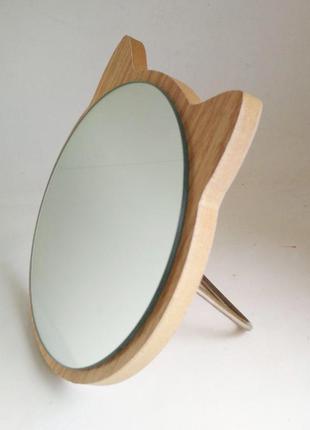 Зеркало для макияжа Cosmetic Mirror R-1026, деревянное в ассор...