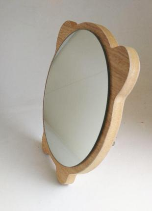 Зеркало для макияжа Cosmetic Mirror R-1074, деревянное в ассор...