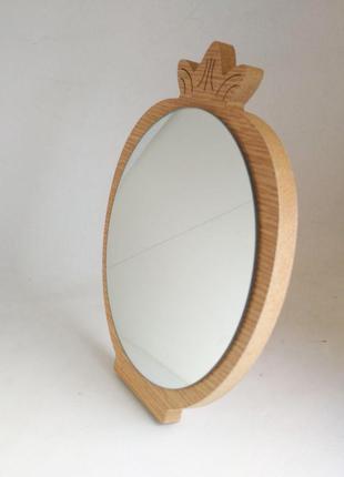 Зеркало для макияжа Cosmetic Mirror R-1076, деревянное в ассор...