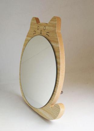 Зеркало для макияжа Cosmetic Mirror R-1078, деревянное в ассор...