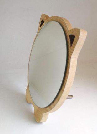 Зеркало для макияжа Cosmetic Mirror R-1072, деревянное в ассор...