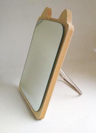 Зеркало для макияжа Cosmetic Mirror R-1028, деревянное в ассор...