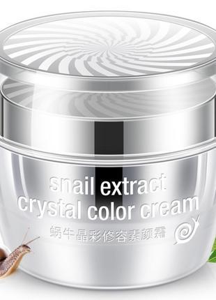 Кристальная основа под макияж Rorec Snail Extract Crystal Colo...