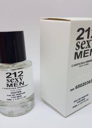 Carolina Herrera 212 Sexy Men Масляный тестер 30 мл
