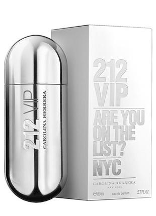 Carolina Herrera 212 VIP Women Silver edp 80ml (лиц.)