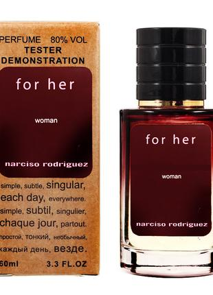 Narciso Rodriguez For Her - Selective Tester 60ml