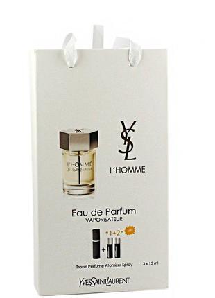Yves Saint Laurent L`homme edp 3x15ml - Trio Bag