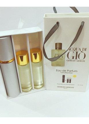 Armani Acqua di Gio 3x15ml - Trio Bag