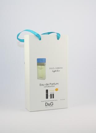 Dolce Gabbana Light Blue pour femme 3x15ml - Trio Bag