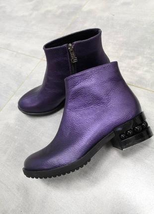 Классические кожаные ботинки в стиле chanel 36-41