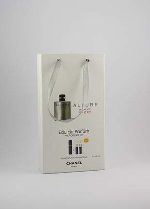 Chanel Allure Homme Sport edt 3x15ml - Trio Bag
