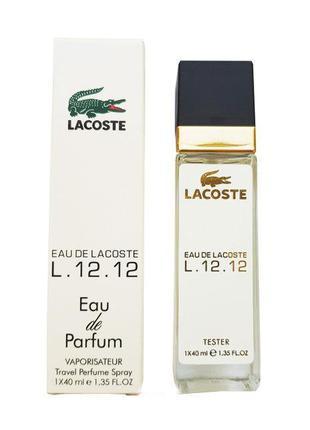 Lacoste Eau De L.12.12 Blanc - Travel Perfume 40ml
