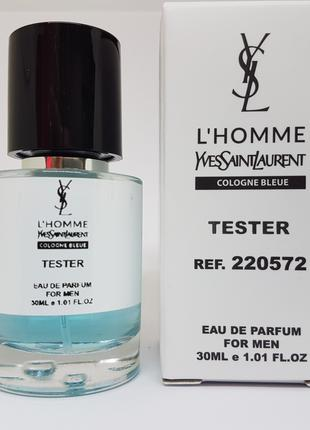 Yves Saint Laurent L`homme Cologne Bleue Масляный тестер 30 мл