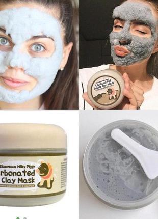 Глиняно-пузырьковая маска для лица Elizavecca Milky Piggy Carb...
