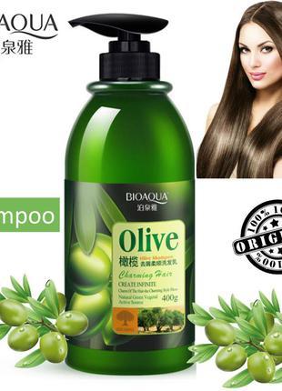 Шампунь для волос с оливковым маслом восстанавливающий BIOAQUA...
