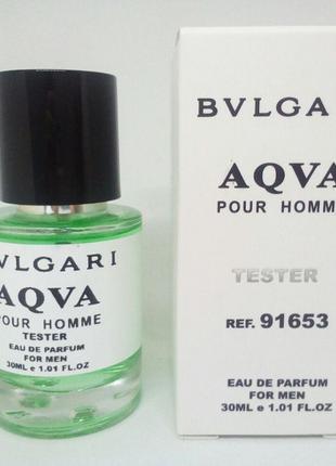 Bvlgari Aqva Pour Homme Масляный тестер 30 мл