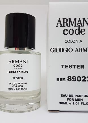 Giorgio Armani Code Colonia for men Масляный тестер 30 мл