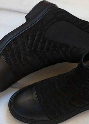 Стильные ботинки байка/мех