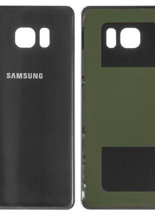 Задня панель корпуса для Samsung N930F Galaxy Note 7, чорна