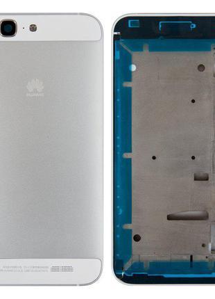 Корпус для Huawei Ascend G7, сріблястий