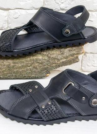 Мужские сандалии-шлепки из нубука