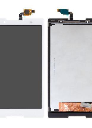 Дисплей для Lenovo Tab 3 TB3-850M LTE, білий, із сенсорним екр...