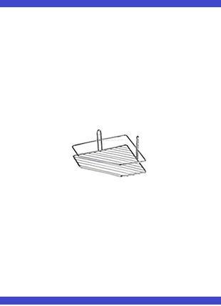 Полка для ванной FZB - 200 x 200 мм угловая одинарная нержавейка
