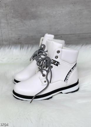 ❤ женские белын зимние ботинки сапоги полусапожки на меху ❤