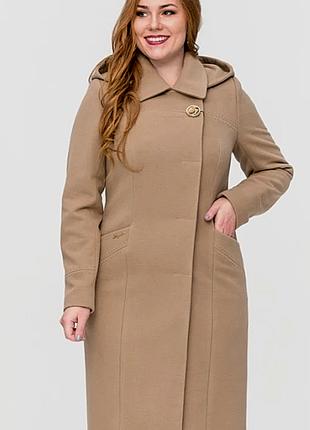 Женское пальто ботал с капюшоном р56