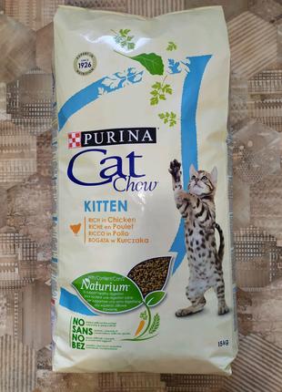 Purina Cat Chow kitten с курицей сухой корм для котят