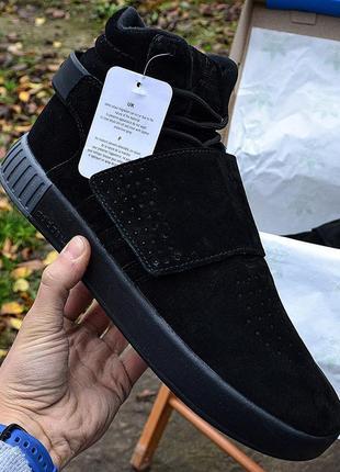 Adidas tubular invader winter black fur мужские зимние кроссов...