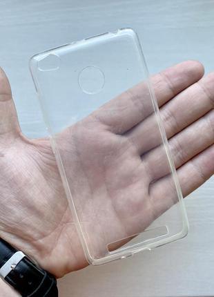 Силиконовый прозрачный чехол на для ксиоми 3 про xiaomi 3 pro