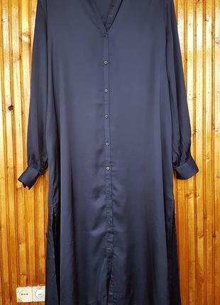 Стильное платье рубашка h&m на пуговицах