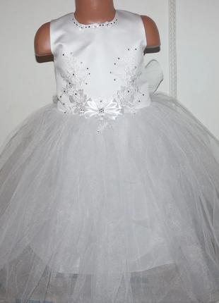Новогоднее детское платье для девочки 4-7 лет