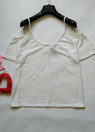 Блуза с открытыми плечами майка