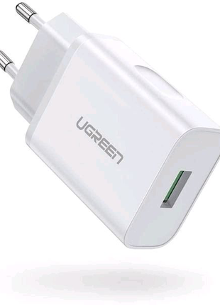 Зарядное устройство Ugreen 18w+Кабель Ugreen 3A(2метра)