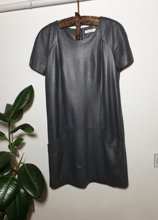 Кожаное платье натуральная кожа