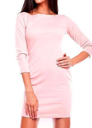 Трикотажное платье, с декорированной спинкой, размер s-m, сезо...