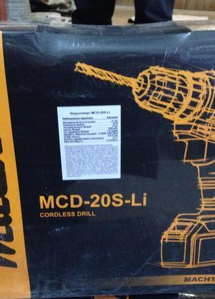 Шуруповерт аккумуляторный Machtz MCD-20S-Li  (с ударом)