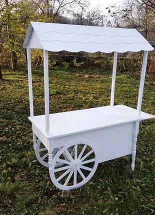 Тележка телега candy bar карета воз стол кенди кенді бар стіл