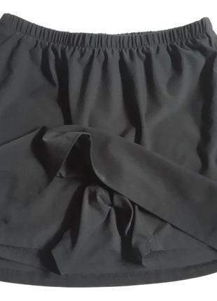 Теннисная юбка- шорты темно- синяя nike  dri-fit( размер 40-42)