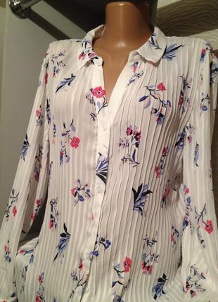 Красивая блуза с цветочным принтом.254