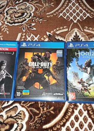 Игры для ps4 call of duty black ops 4 horizon zero dawn the la...