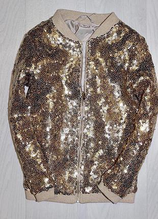 Кофта бомбер куртка пайетки паетки