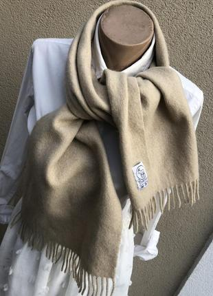 Винтаж,тёплый,100% кашемир шарф с бахромой,германия