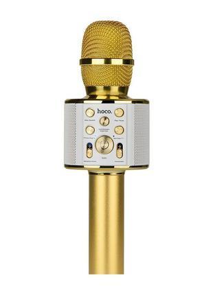 Микрофон караоке HOCO BK3. Gold