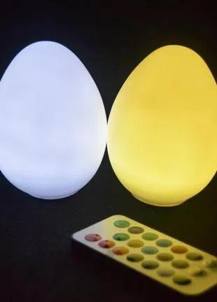 Светодиодный светильник Egg79W2 на батарейках с пультом ДУ (2 шт)