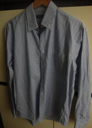 Рубашка, котон, в полоску, длинный рукав  southbay